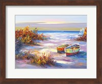 Boats On The Beach Fine Art Print