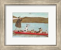 Woofing Along on the River Fine Art Print