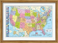Maps of the United States Fine Art Print
