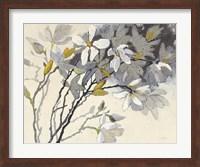 Magnolias Yellow Gray Fine Art Print