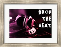 Drop The Beat  - Magenta and Red Fine Art Print