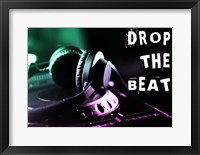 Drop The Beat - Green and Pink Fine Art Print
