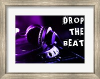 Drop The Beat - Purple and Blue Fine Art Print