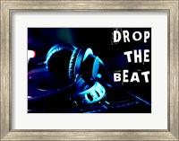 Drop The Beat - Navy and Cyan Fine Art Print