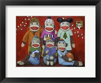 Sock Doll Family Portrait Fine Art Print