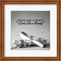 Train Like A Beast Grayscale Fine Art Print