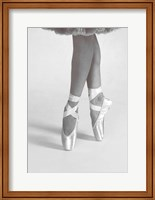 Dancing En Pointe Black and White Fine Art Print