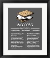 S'mores Recipe Gray Background Fine Art Print