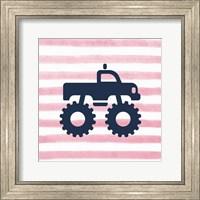 Monster Truck Graphic Pink Part I Fine Art Print