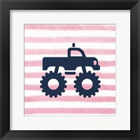 Monster Truck Graphic Pink Part I Fine Art Print