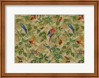 Antiqued Aviary Tobacco Fine Art Print