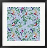 Aviary Small Scroll Periwinkle Fine Art Print