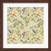 Aviary Small Scroll Sage Fine Art Print