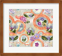 China Cabinet Mother Of Pearl Fine Art Print