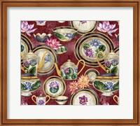 China Cabinet Oxblood Fine Art Print