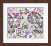 China Cabinet Silver Plum Fine Art Print