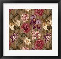 Floral Waltz Textured Scroll Stripe Hazelnut Fine Art Print