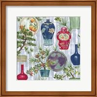 Japanese Vases Srokes Multi Fine Art Print