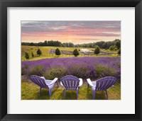 Lavender Chairs, Horton Bay, Michigan '14-color Fine Art Print