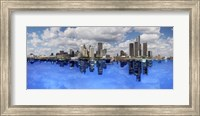 Detroit Day And Night, Detroit, Michigan 07 - Color Pan Fine Art Print