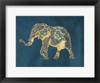 Navy Gold Elephant Fine Art Print