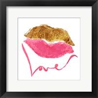 Love Lips White Fine Art Print