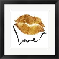 Love Lips Gold Fine Art Print