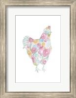 Floral Hen Fine Art Print
