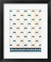 Mustache Blue Fine Art Print