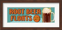Root Beer Floats 25 Cents Oblong Fine Art Print