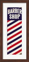 Barber Pole distressed with chips Fine Art Print