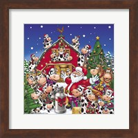 Christmas Party Cows Fine Art Print