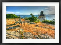 Adirondack Chairs And Lighthouse Fine Art Print
