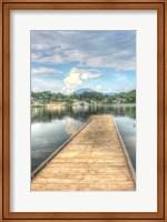 Lake Pier Vertical Fine Art Print