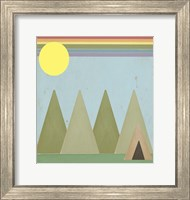 Camping In The Woods Fine Art Print