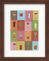 Cocktails Matrix Fine Art Print