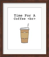Time For A Coffee <br> - White Fine Art Print