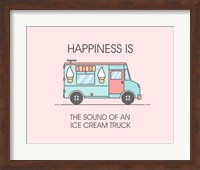 Ice Cream Truck Blue Fine Art Print