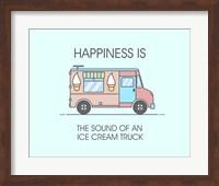Ice Cream Truck Pink Fine Art Print