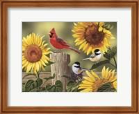Sunflowers and Songbirds Fine Art Print