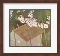 Cherry Blossoms & Pigeons Fine Art Print