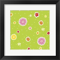 Summer Flowers and Stars I Fine Art Print