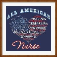All American Nurse Fine Art Print