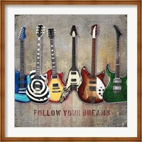 Guitar line up Fine Art Print