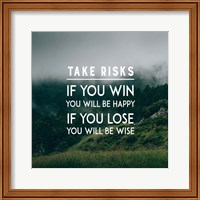 Take Risks - Forest Landscape Color Fine Art Print