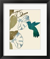 Hummingbird and Morning Glories Fine Art Print