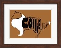 Collie Word 2 Fine Art Print