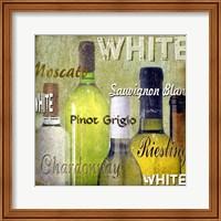 White Wine Bottles Fine Art Print