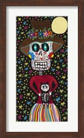 Day of the Dead Girl with Cat Fine Art Print