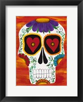 Fire Sugar Skull Fine Art Print